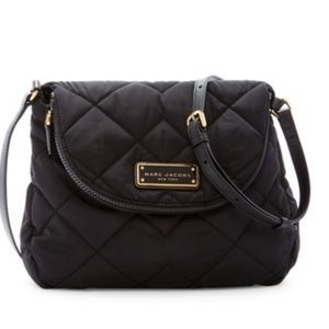 Marc Jacobs quilted nylon messenger bag black GUC